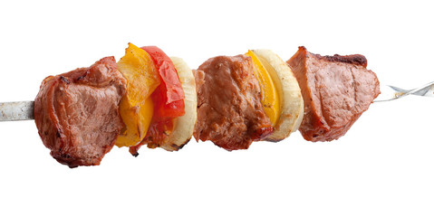 Shashlik on the skewer