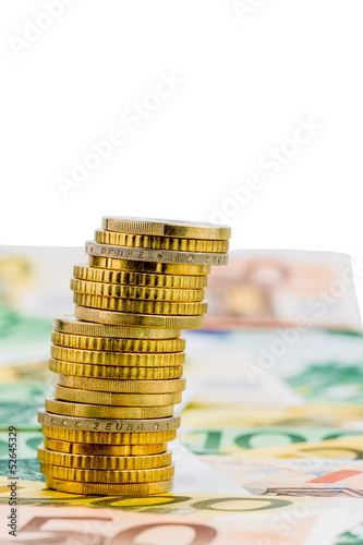single stack of money coins