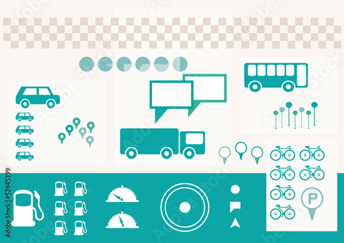 traffic infographics elements