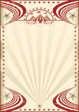 Circus red vintage poster