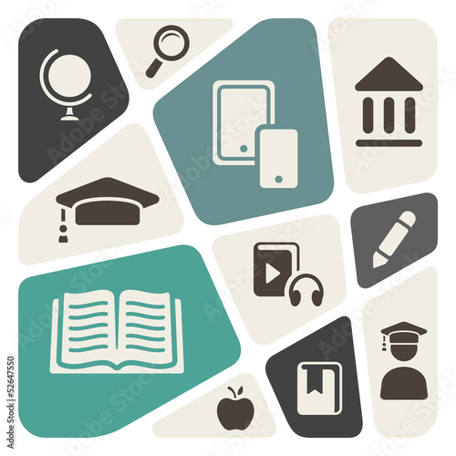 Education theme abstract background