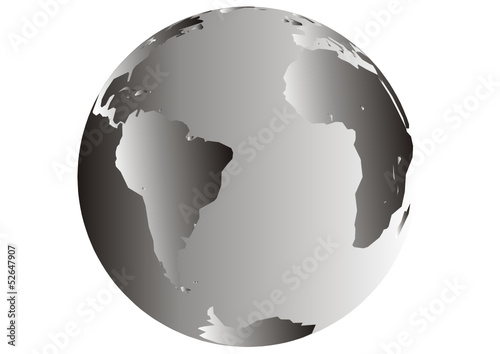 Globus - Südamerika - Afrika - Transatlantik