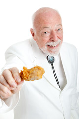 Southern Gentleman With Fried Chicken Drumstick