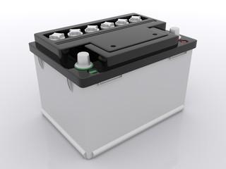Weisse Autobatterie