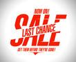 Last chance sale design template