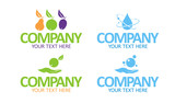 Eco product vector symbols for food and cleansing poster