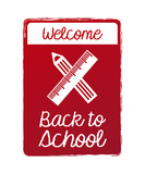 welcome back school burgundy