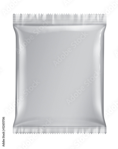 Sachet bag package white