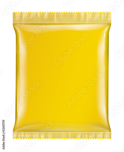 Sachet bag package yellow