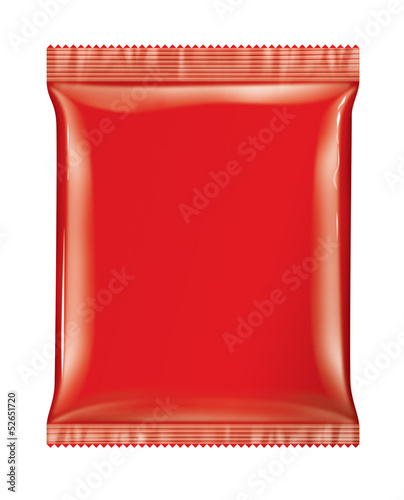 Sachet bag package Red