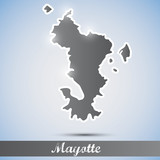 shiny icon in form of Mayotte