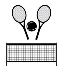 monochrome tennis design