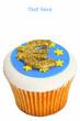 Iced Euro cupcake.