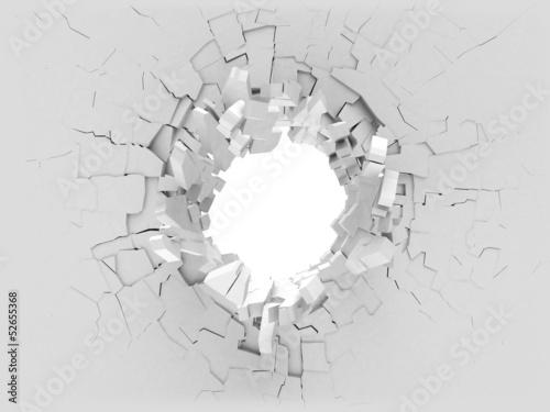 3D broken wall