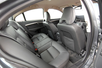 car interior, rear leather seat