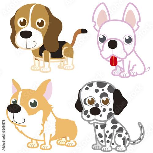 cartoon dog set.