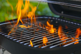 Fototapety House Grill With Big Flame