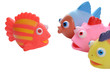 colorful rubber fish society - senior & juniors_on white