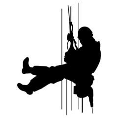 Industriekletterer ~ Höhenarbeiter ~ Kletterer ~ Seilzug
