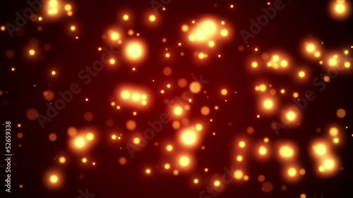 Hot Sparkling Looped Motion Background