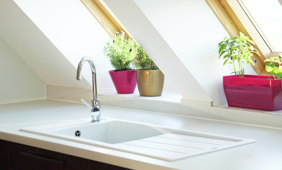 contemporary kitchen sink