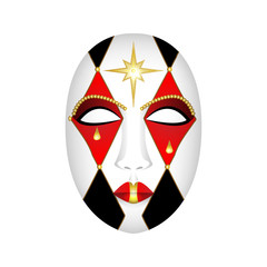 carnival mask on a white background - vector illustration