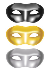 set of masks on a white background - vector illustration