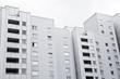 Hochhaussiedlung in Deutschland - Plattenbau