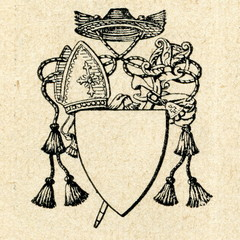 Old abbot's coat of arms