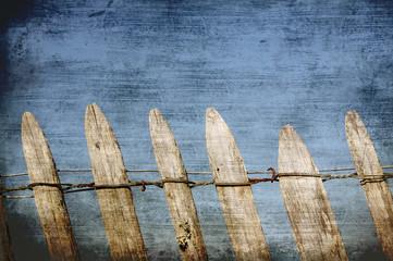 steccato di legno vintage