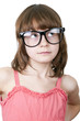 cute thoguhtful child with funny glasses