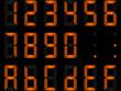 chiffres digitaux oranges