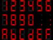 chiffres digitaux rouges