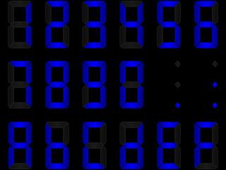 chiffres digitaux bleus