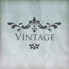 Vintage vector floral frame