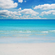 clouds and white sand