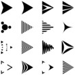 set of 16 simple arrows icons