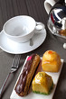 Salon de thé, collation, gâteau, dessert, pâtisserie