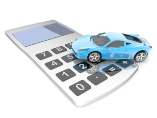 calculator with the car (3-D simulation, 3-D visualization)