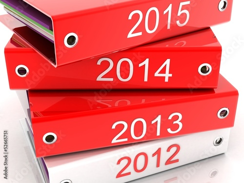 folder for documents (2012,2013,2014,2015) in 3-d visualization