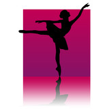 ballet dancer purple square