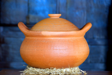 Clay Pot Closeup.