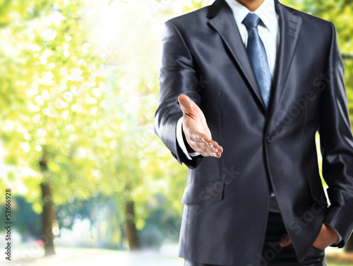 american businessman handshake gesture
