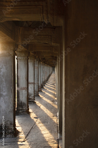 The corridor of Angkor Wat