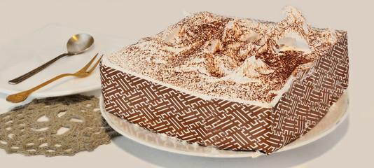 Tiramisu cake macro