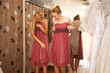 Bridesmaides Having fun in bridal Boutique