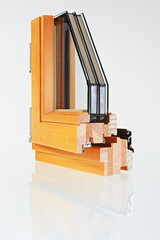 sample of a window with triple-pane  glazing