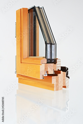 canvas print picture sample of a window with triple-pane  glazing