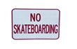 isolated no skateboarding sign