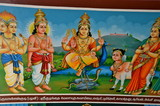Paintings in Sri Mariamman Hindu Temple in Singapore Chinatown